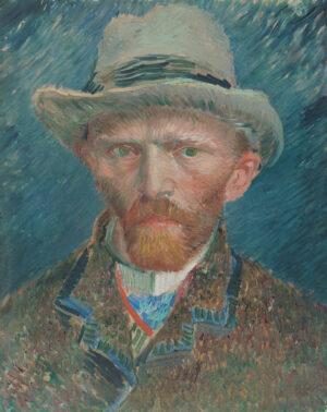 Van Gogh's zelfportret met grijze vilthoed
