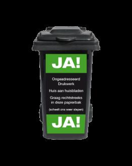 Papierbaksticker JA