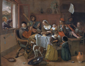 Het vrolijke huisgezin van Jan Steen