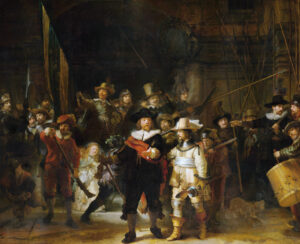 Rembrandt's Nachtwacht, zijn beroemdste en grootste doek
