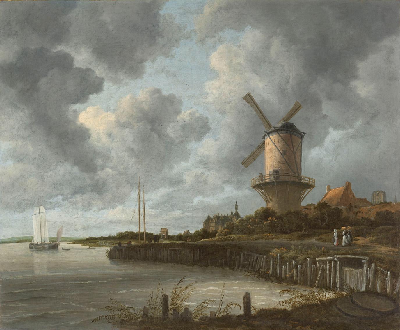 De molen bij Wijk bij Duurstede, Jacob Isaacksz van Ruisdael, ca. 1668 - ca. 1670